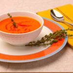 Recipe – Chilled Red Pepper Soup with Roasted Red Bell Peppers