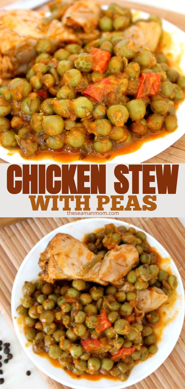 Chicken and peas