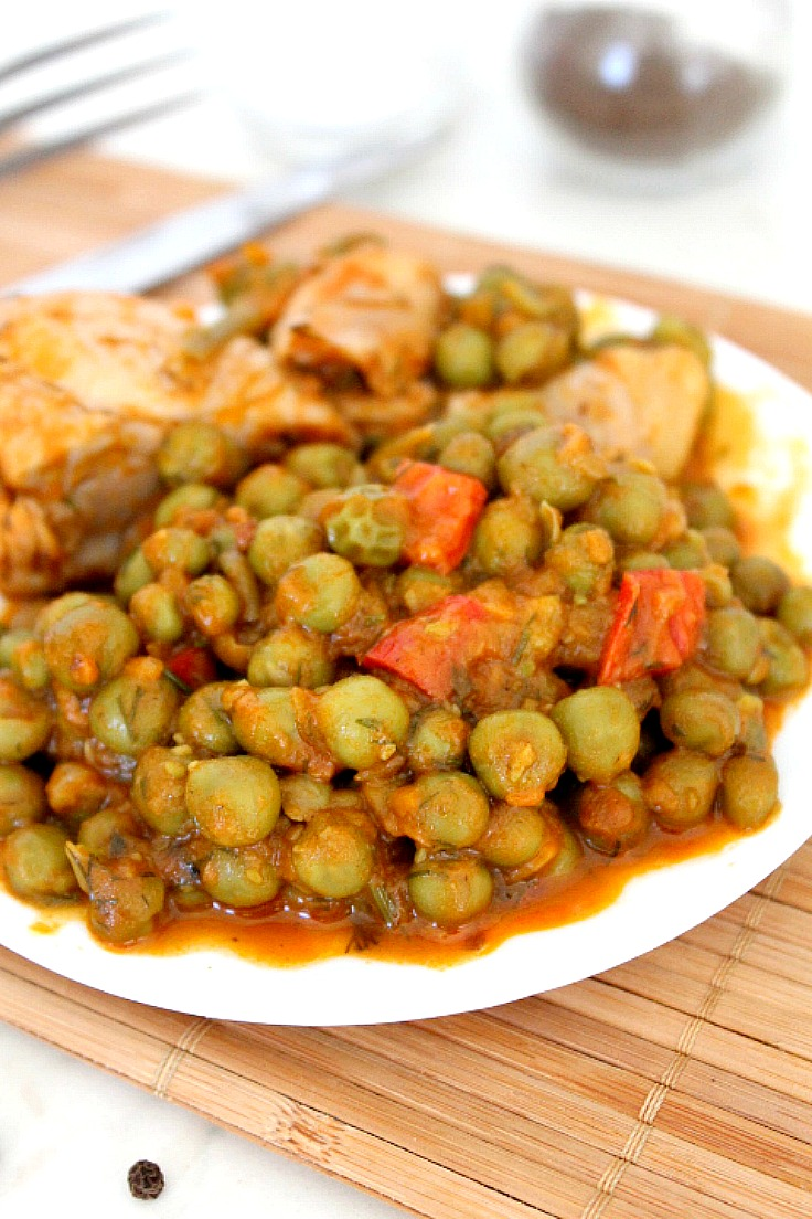 Pea and chicken stew