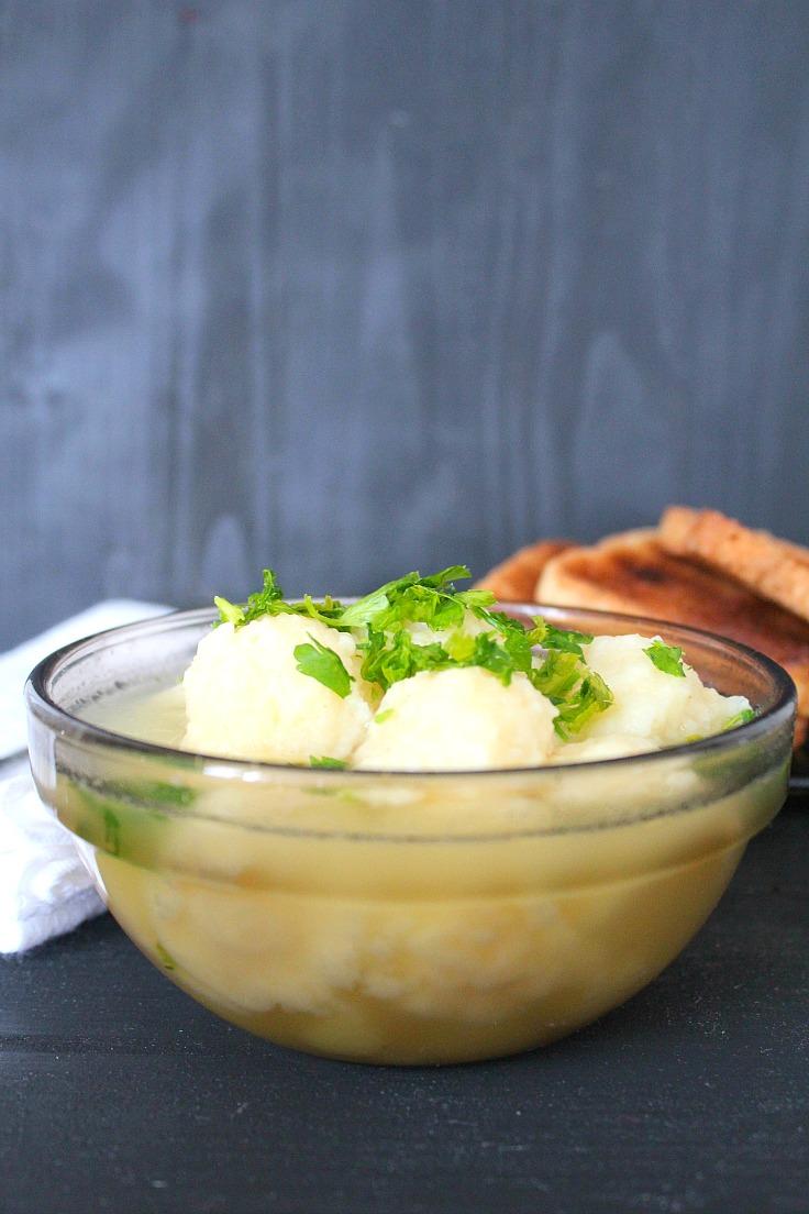 Semolina dumplings soup