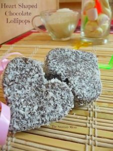 Heart chocolate pops recipe