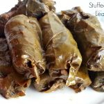 Stuffed vine leaves with minced meat recipe