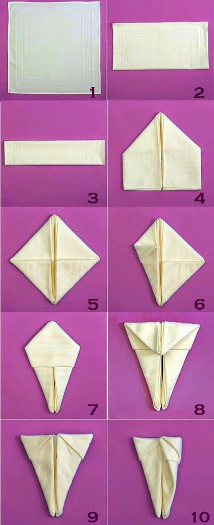 3 easter decorations ideas - Fold bunny shaped napkin ...