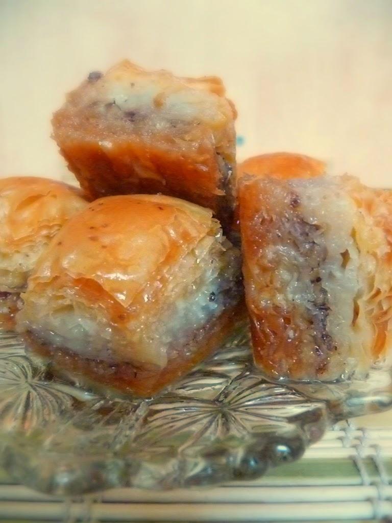Turkish Baklava with walnuts image