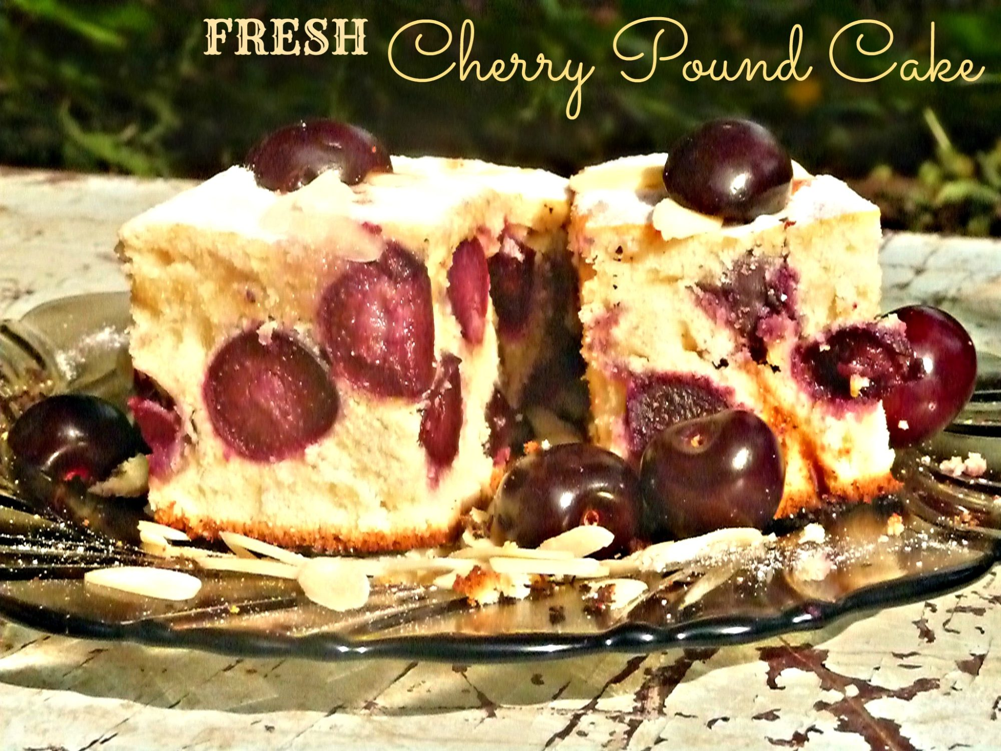 Fresh Cherry Pound Cake Loaf