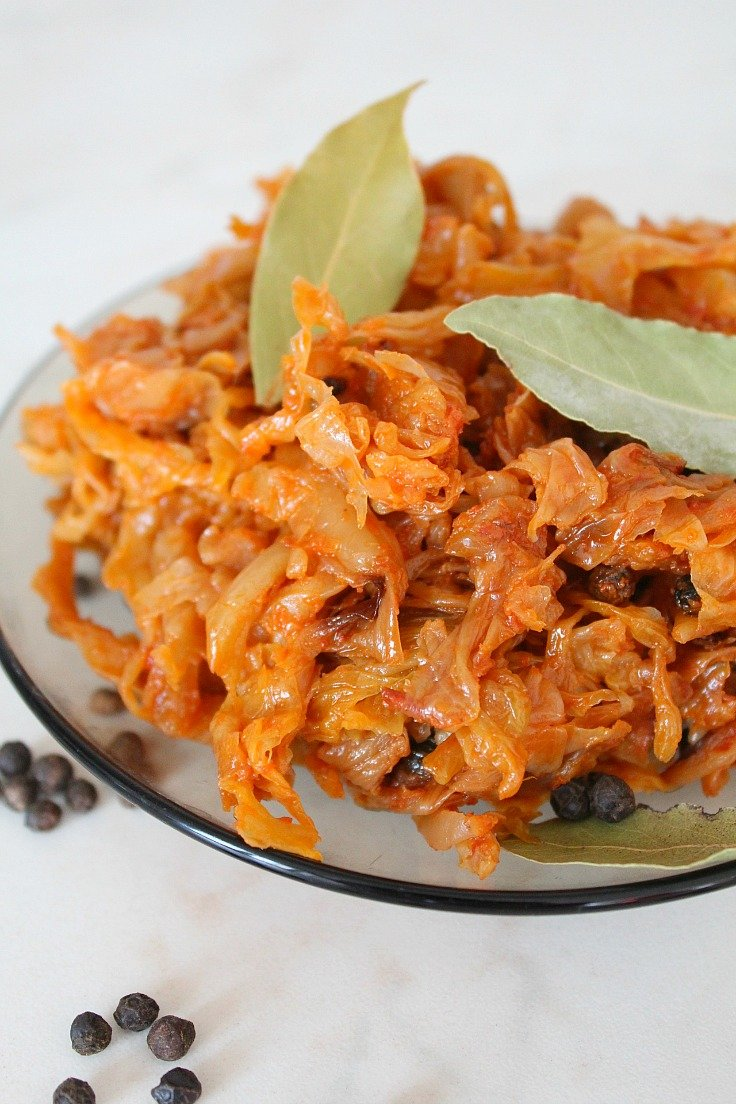 Oven baked cabbage