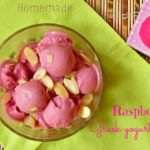 Homemade raspberry and Greek yogurt ice cream
