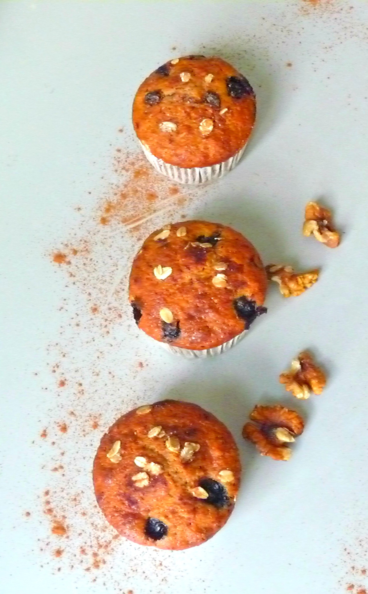 Super easy, quick and healthy whole wheat muesli muffins