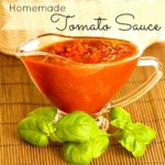 Easy and healthy homemade tomato sauce for Winter time canning