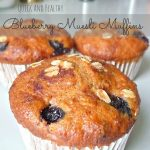 Easy and healthy whole wheat muesli and blueberry muffins