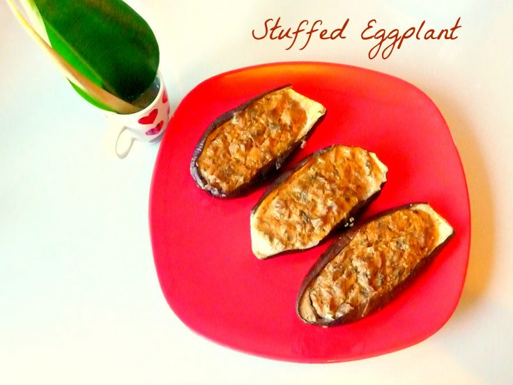 Quick Stuffed eggplant