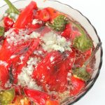 Roasted long sweet peppers salad recipe