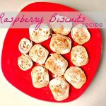 Raspberry and butter biscuits recipe