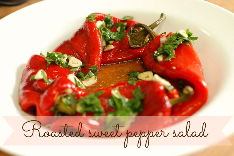 Quick and easy Roasted sweet peppers salad