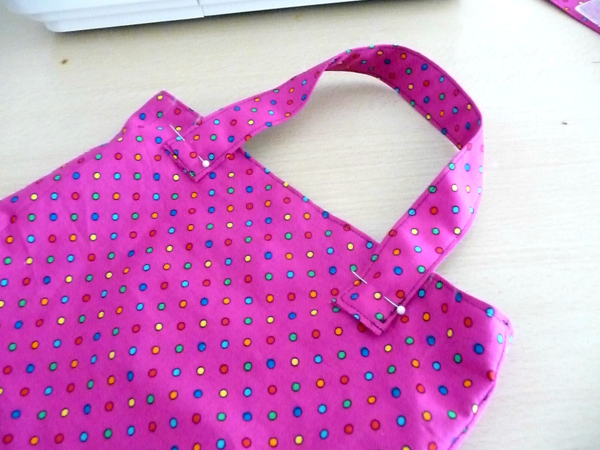 Attach straps to bag
