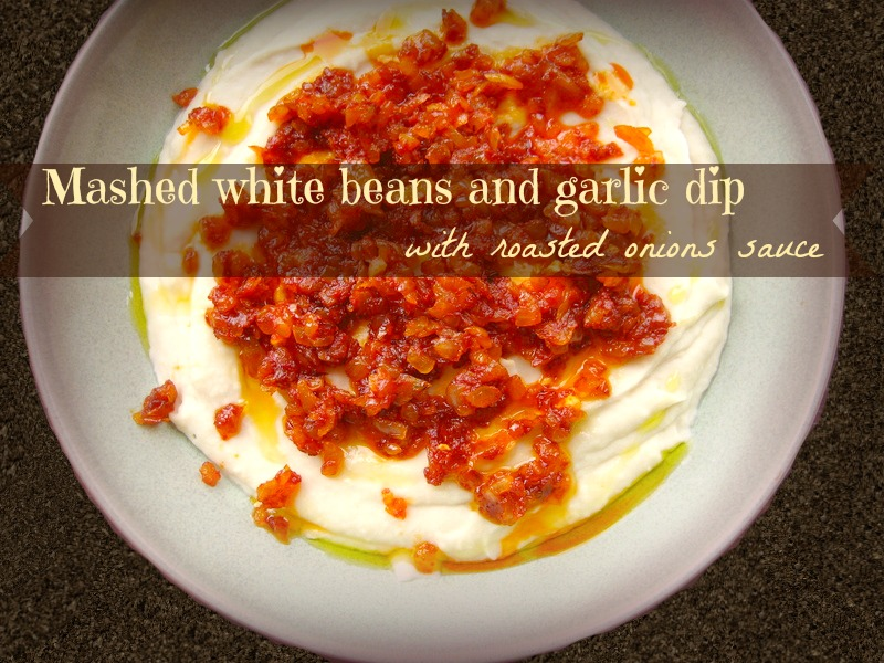 Mashed white beans and garlic dip