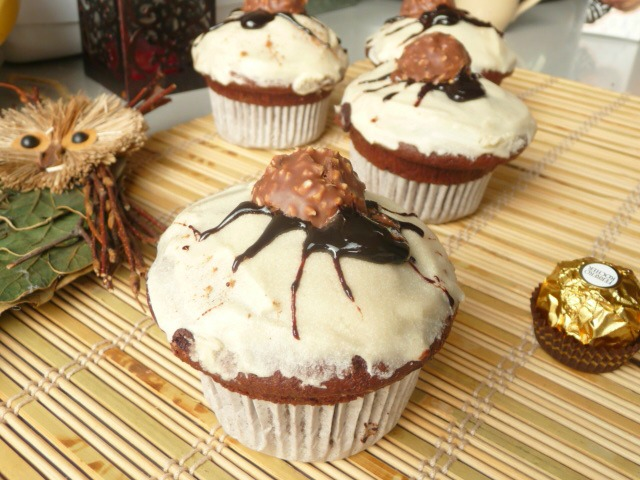 Spider muffins with yogurt 1