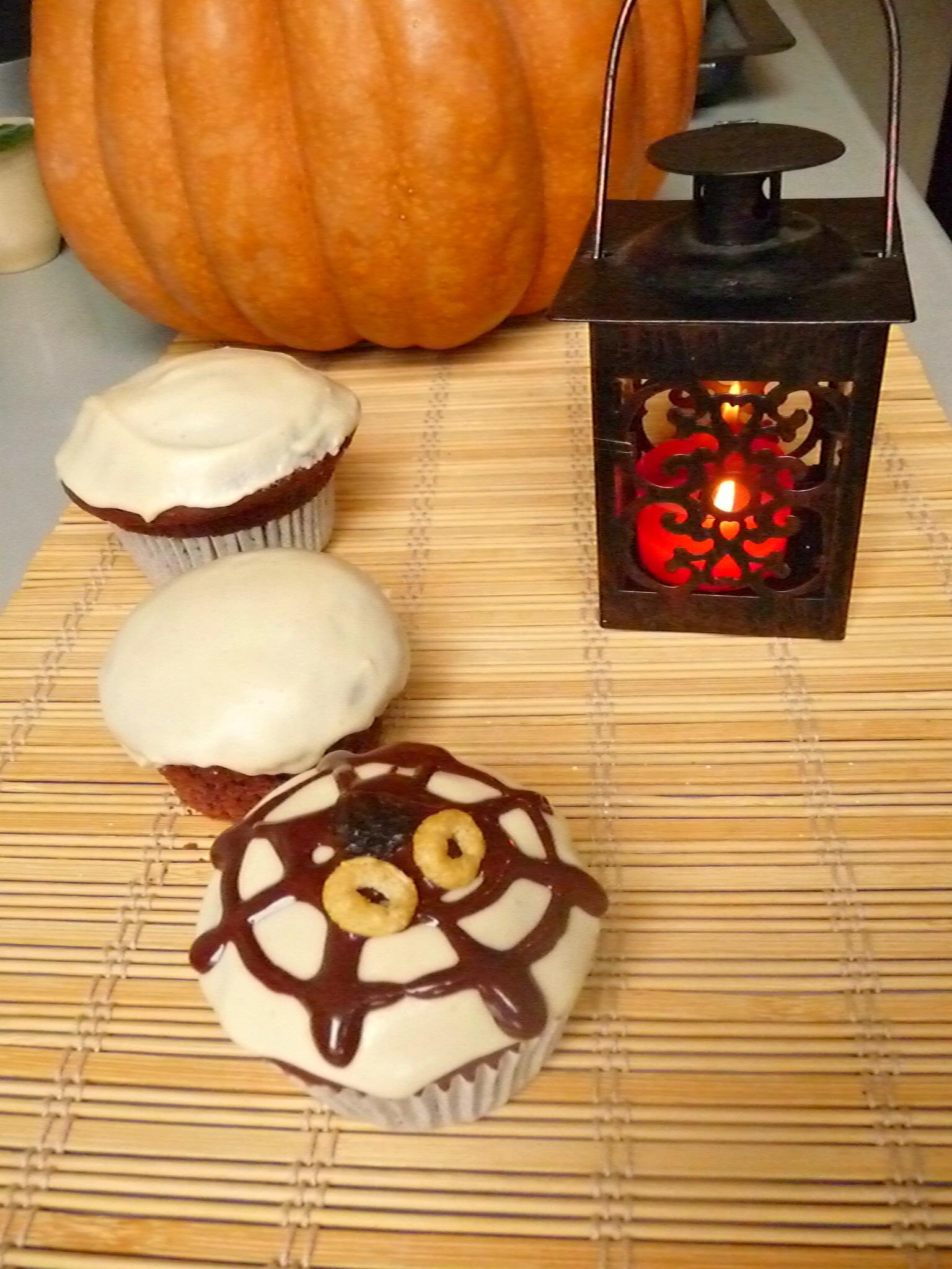 Spider muffins with yogurt 5