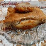 Apple cake with whole apples, cinnamon and nuts