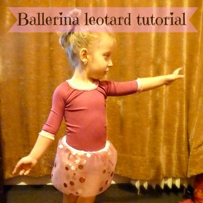 Gift ideas for kids with a ballerina leotard sewing tutorial