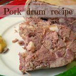 """Pork Drum"" recipe with liver, tongue and rind filling"