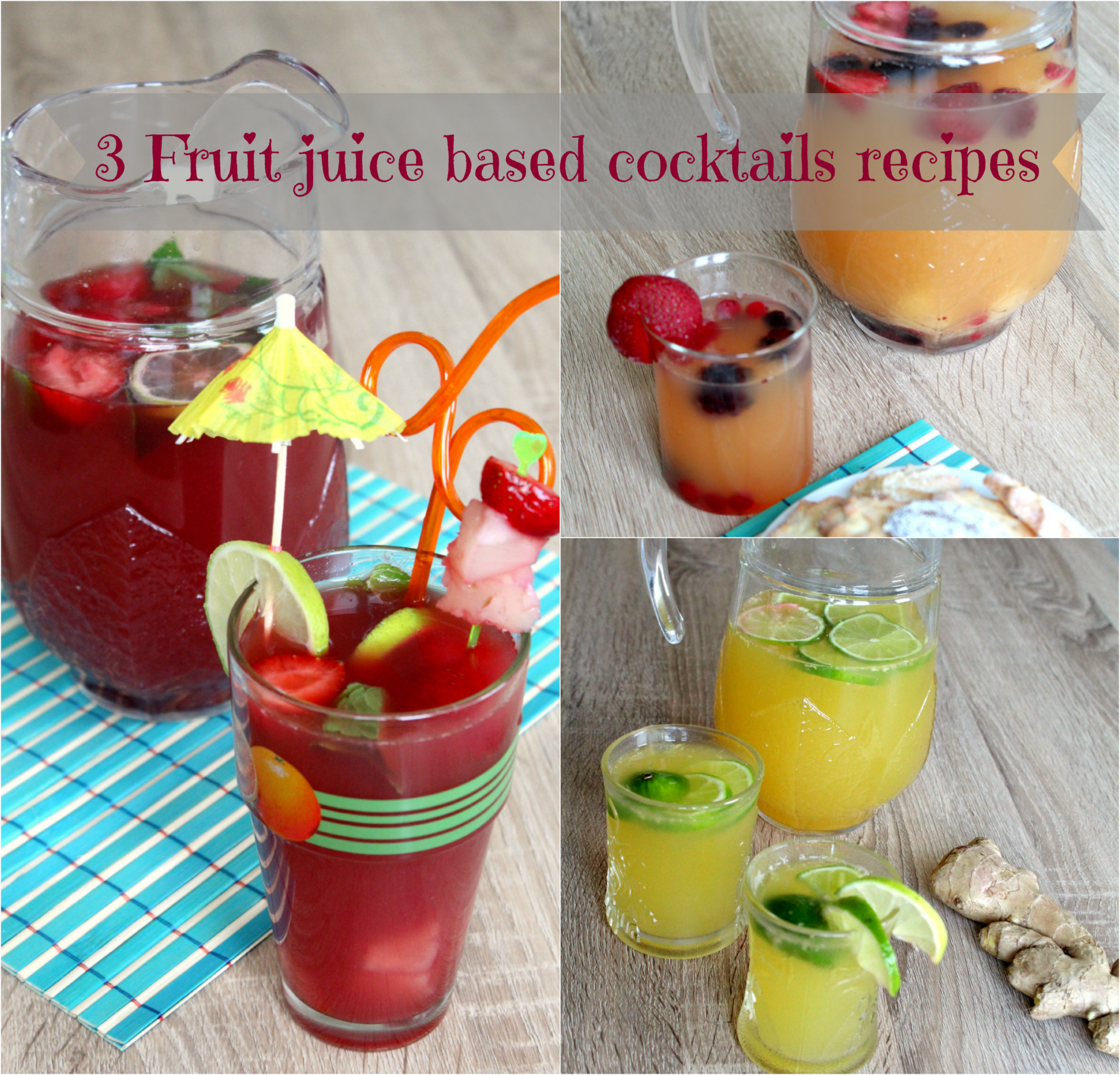 Fruit juice based cocktails