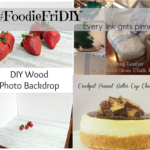 #FoodieFriDIY – DIY Wood Photo Backdrop, Crockpot Peanut Butter Cup Cheesecake & DIY Painting Leather Furniture
