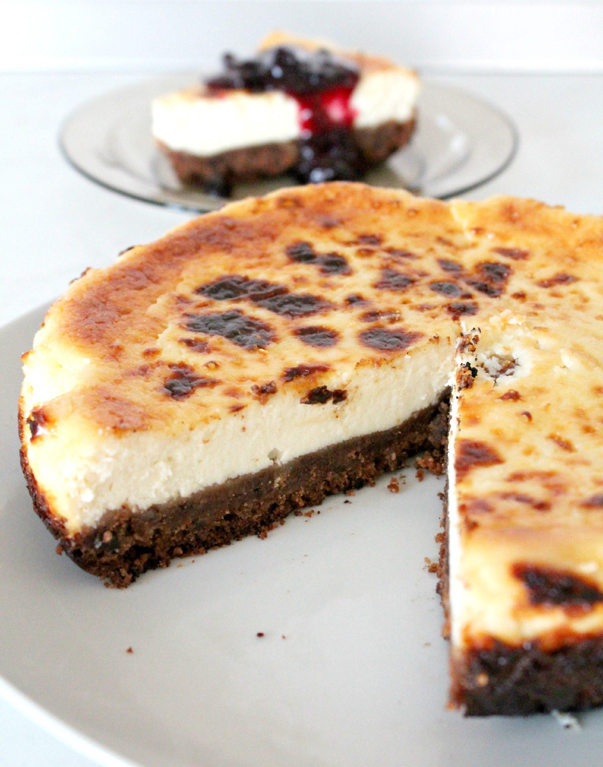 Gluten free chocolate chip cookie cheesecake