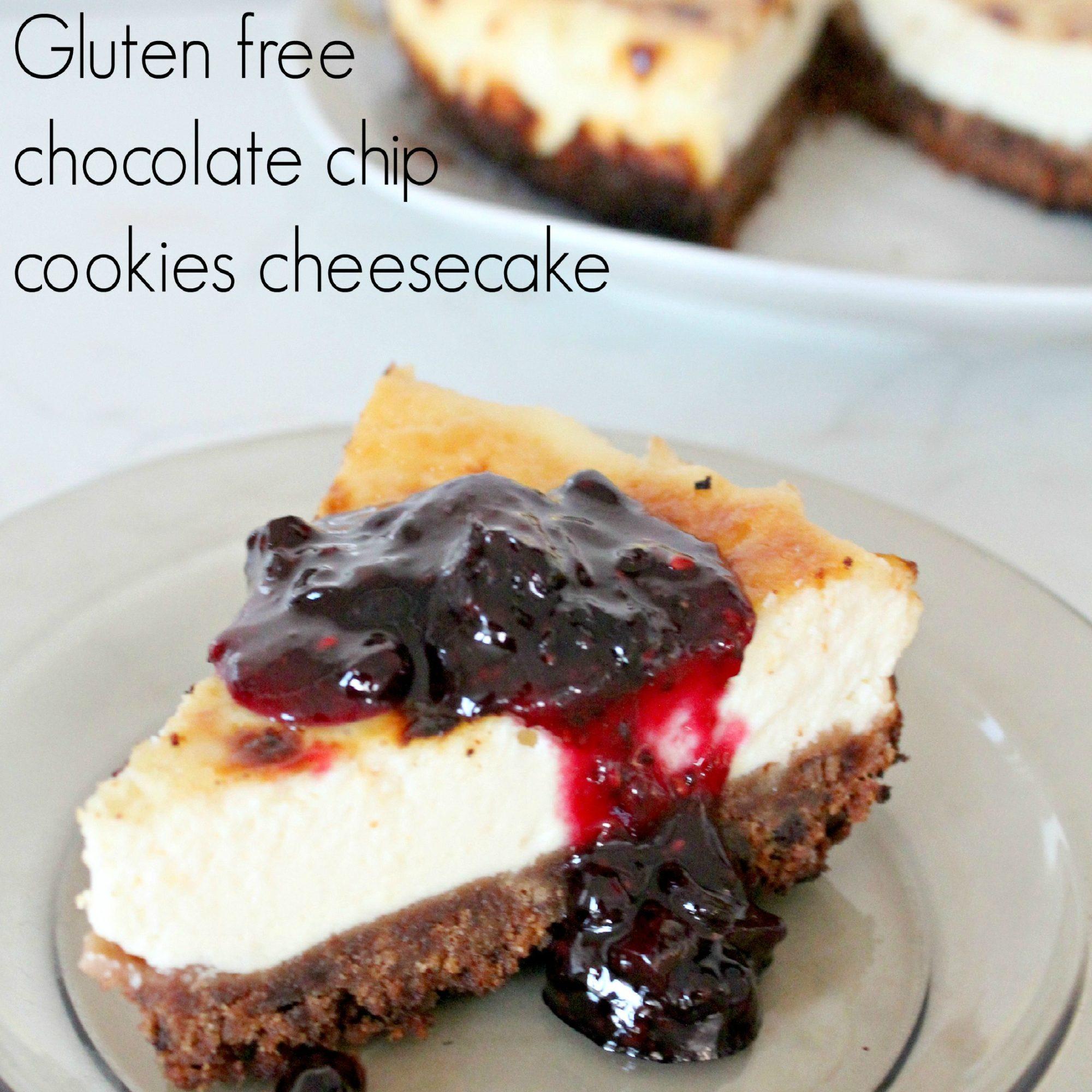 Gluten free chocolate chip cookie cheesecake recipe