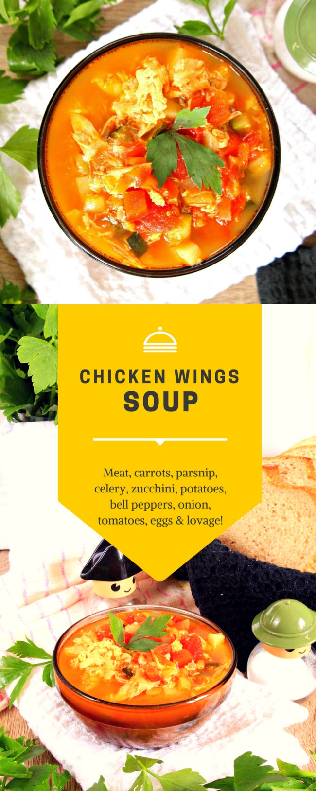 Chicken wings soup