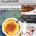 #FoodieFriDIY – No bake creme brulee, Red velvet sweet rolls & Chocolate raspberry cheesecake
