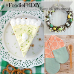 #FoodieFriDIY – Key lime cheesecake, Rustic Easter egg wreath  & Easy to sew Hand casserole pot holder