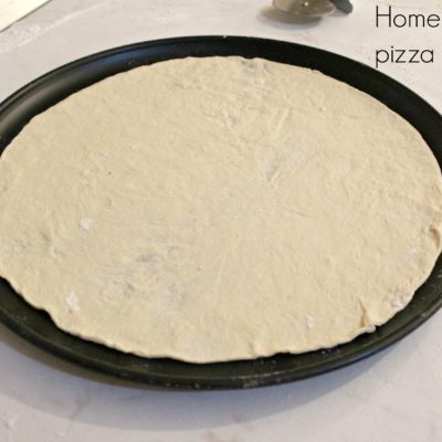 Homemade thin pizza crust recipe