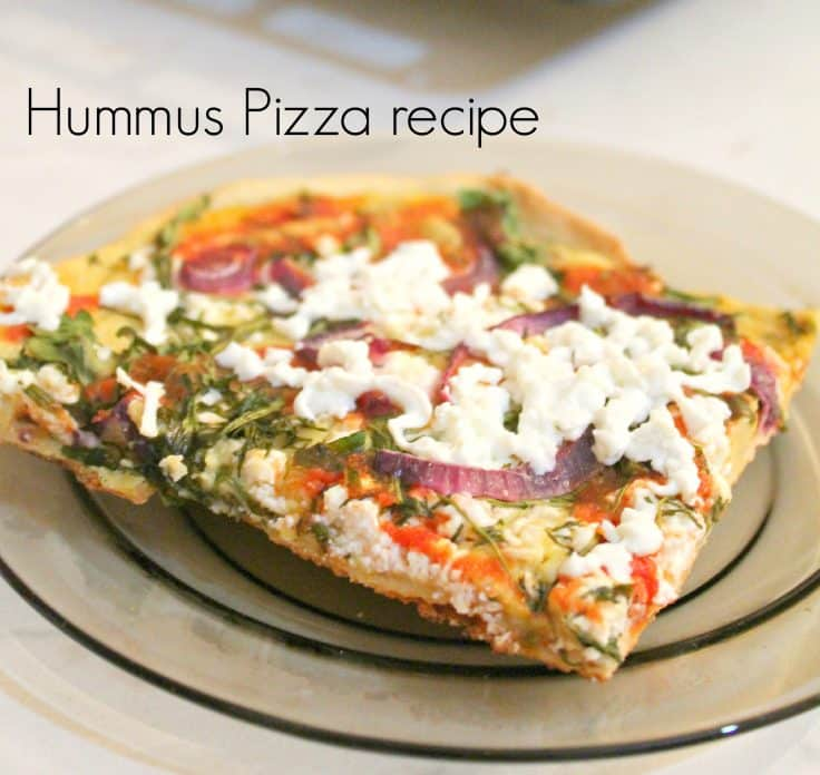 Hummus pizza