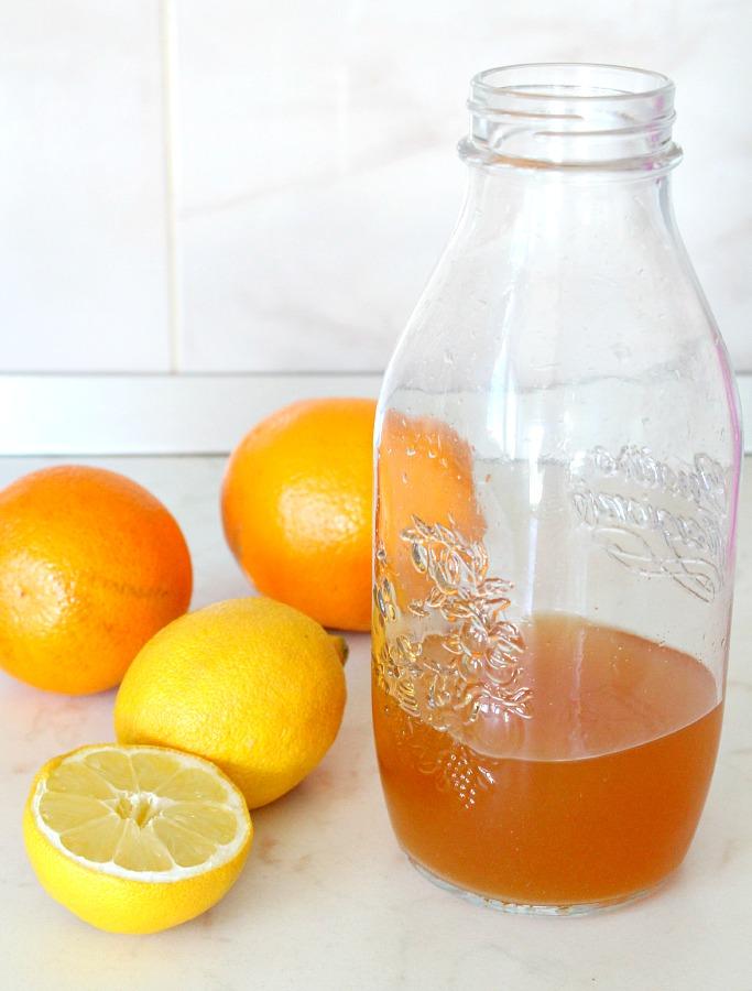 DIY Citrus Vinegar Cleaner - The Seaman Mom