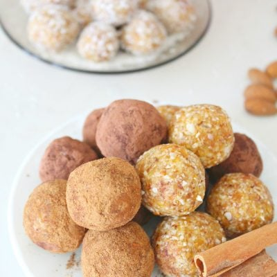 Raw Almond apricot energy balls
