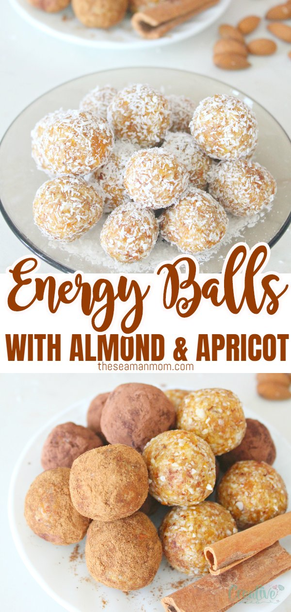 A healthy, delicious snack served any time a day when you feel your energy level is dropping, these raw almond apricot energy balls are doubling as a pretty low calorie dessert when you feel like you need to satisfy a sweet tooth. via @petroneagu