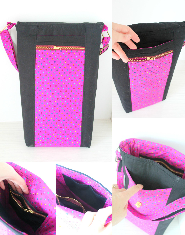 Cross Body Bag pattern pockets
