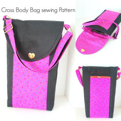 Lots of pockets Cross body bag pattern