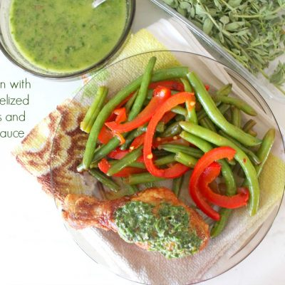 #ad Fourth of July cooking ideas – Fried chicken, Caramelized spicy green beans and Chimichurri sauce