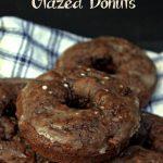 Double chocolate glazed donuts