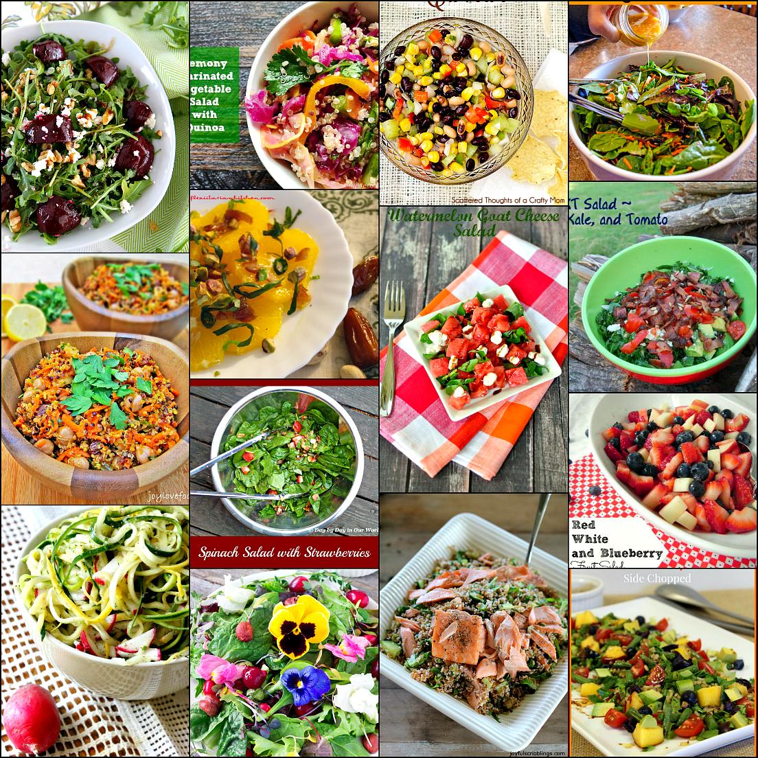 Light tasty summer salads