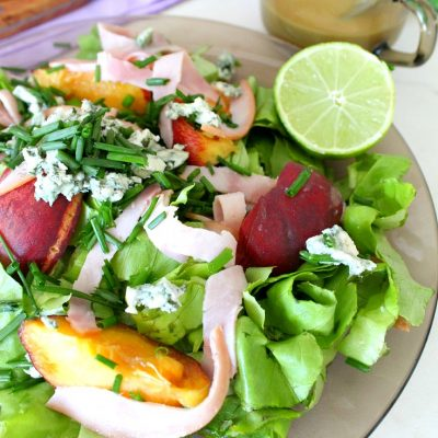 Peach Salad with Blue Cheese