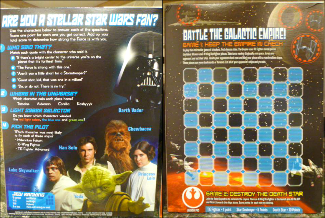 Star Wars cereal games