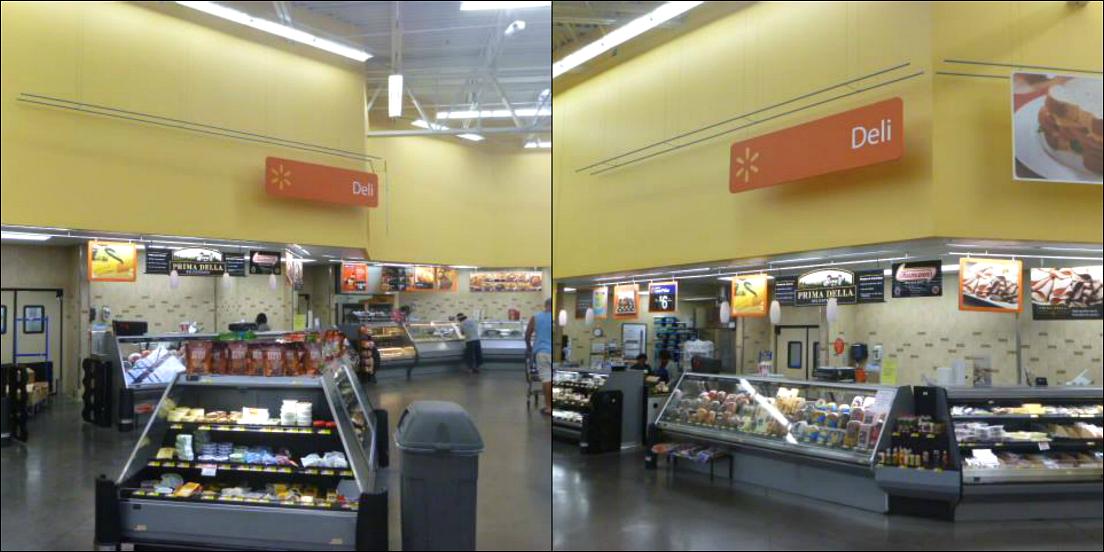 Walmart Deli Fried chicken location