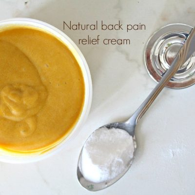 Natural back pain relief cream