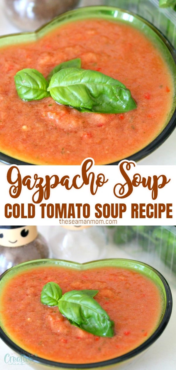 A bright, refreshing cold tomato soup and a no-cook delight! This is the best gazpacho recipe, a summer/fall specialty, that is best made at the end of summer when tomatoes are most flavorful! via @petroneagu
