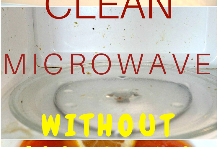 Need to learn how to clean your microwave without chemicals or scrubbing? Here's an easy, natural way to clean microwave, great to wipe out microwave grime without much effort!