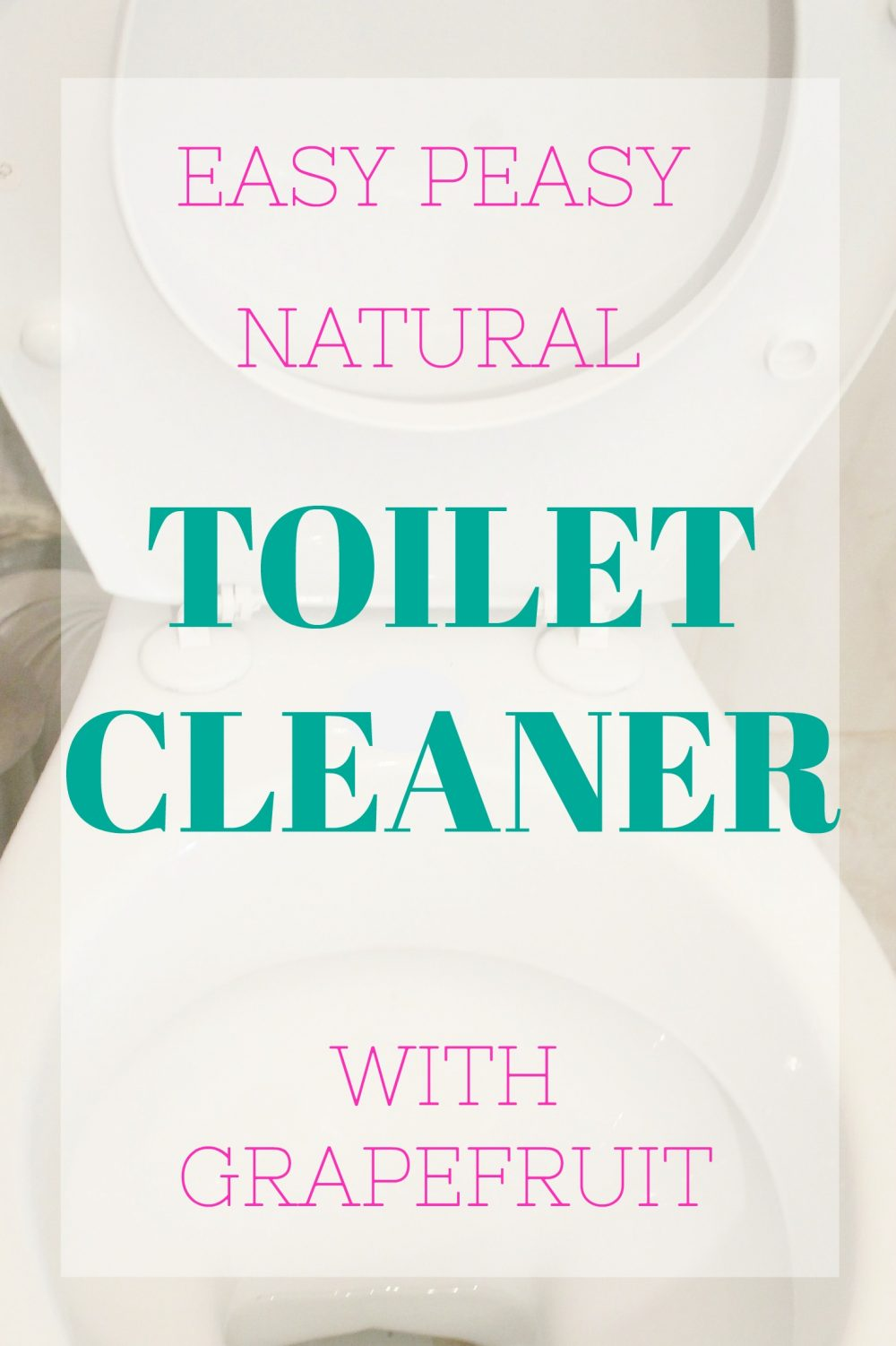 Clean your toilet with this natural toilet cleaner without bringing toxic fumes into your home.