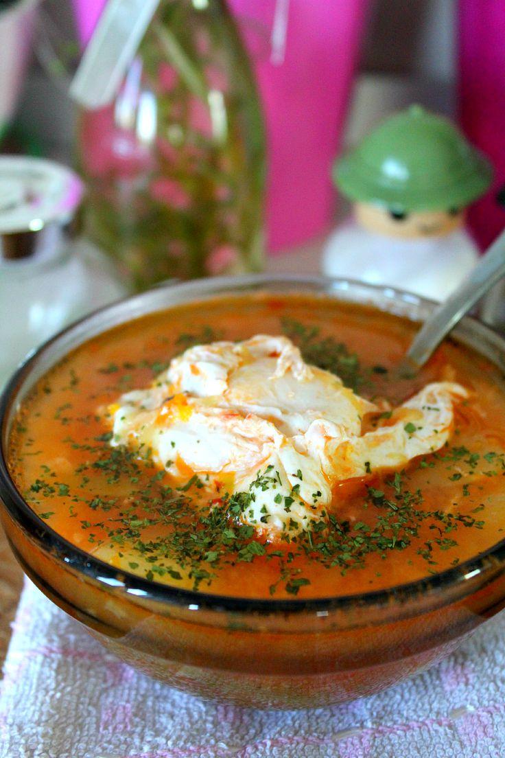 Chicken vegetable egg soup